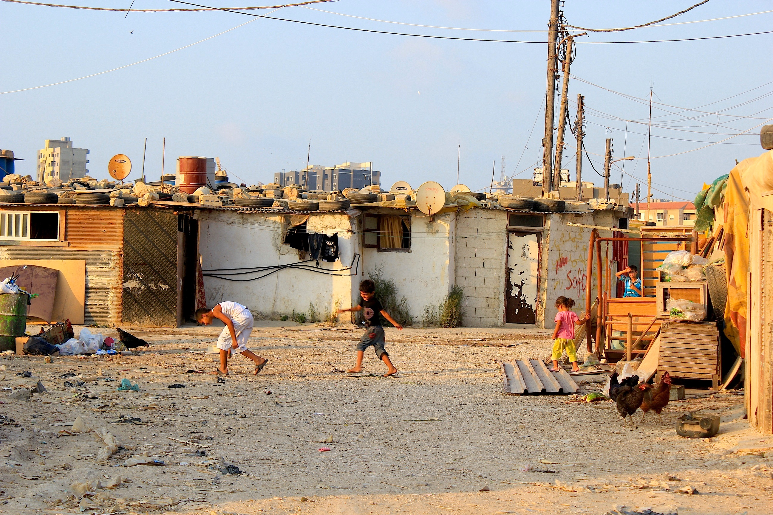 Children Slum Tripoli