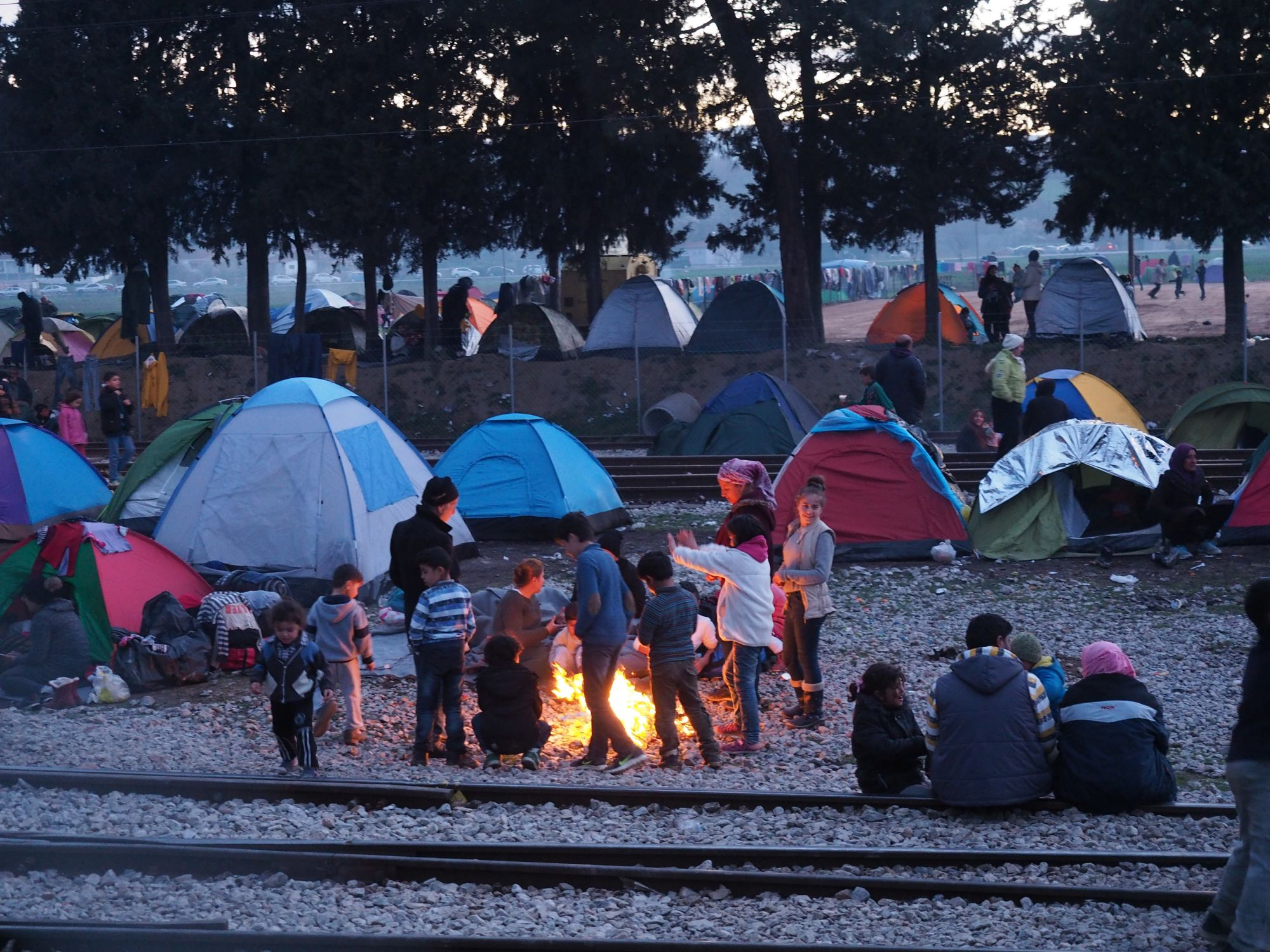 Documenting daily life at idomeni camp for Kates fish camp
